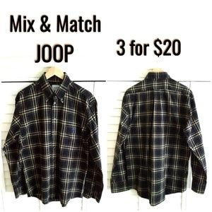 JOOP button down shirt checkerd long sleeves